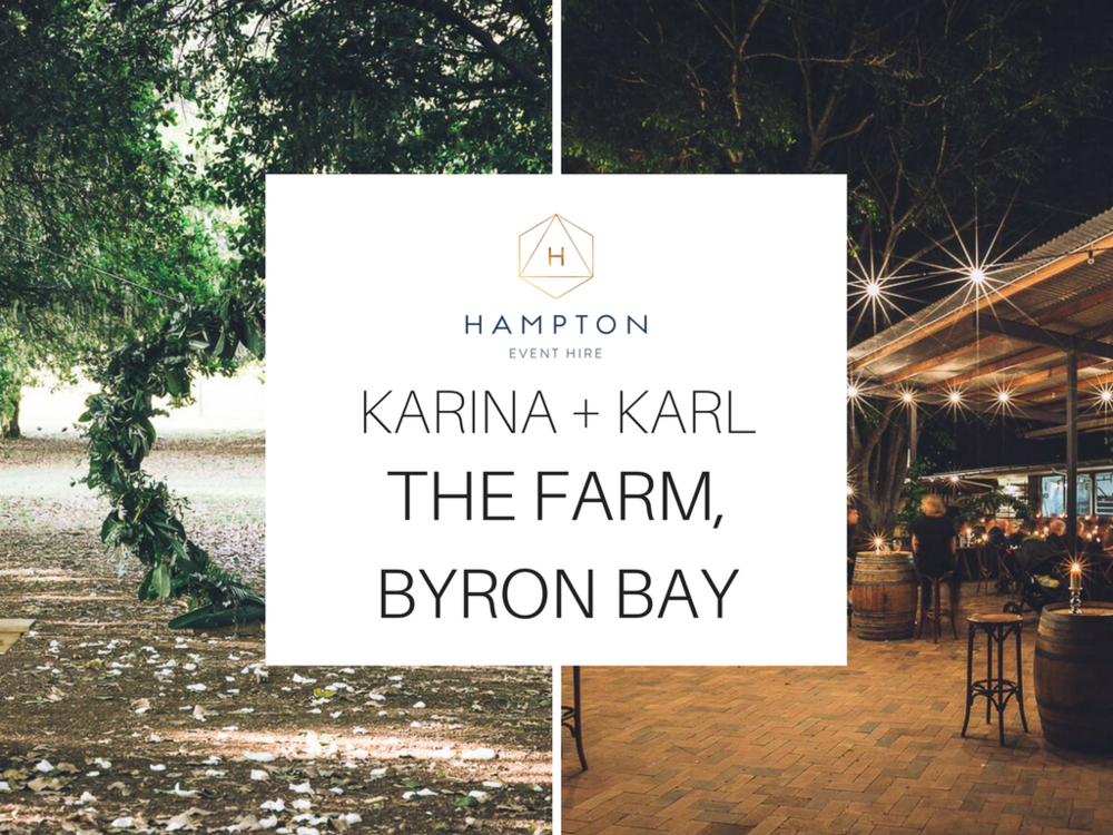 The Farm Byron Bay Wedding | Hampton Event Hire | Photo by Kate Holmes