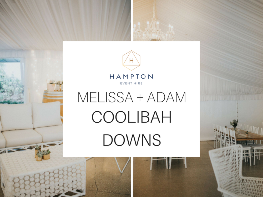 Melissa and Adam Coolibah Downs Wedding | Hampton Event Hire | Photo by White Fox Studios