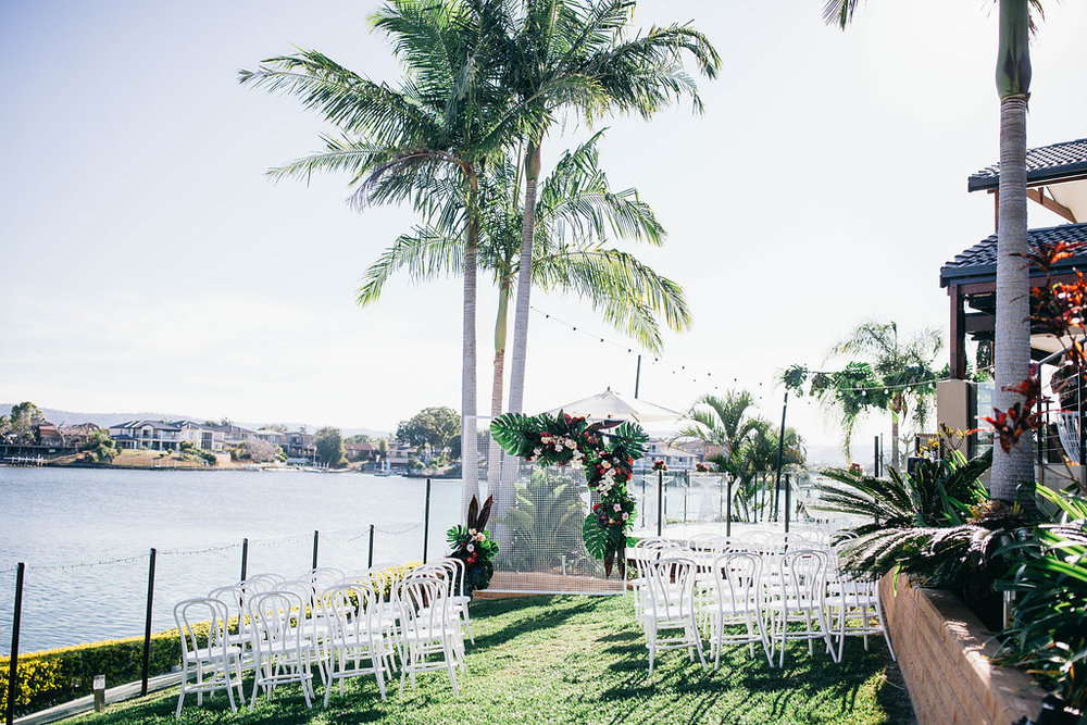 Real Wedding - Carmen and Nick | Gold Coast wedding venue | Hampton event hire | Ceremony furniture