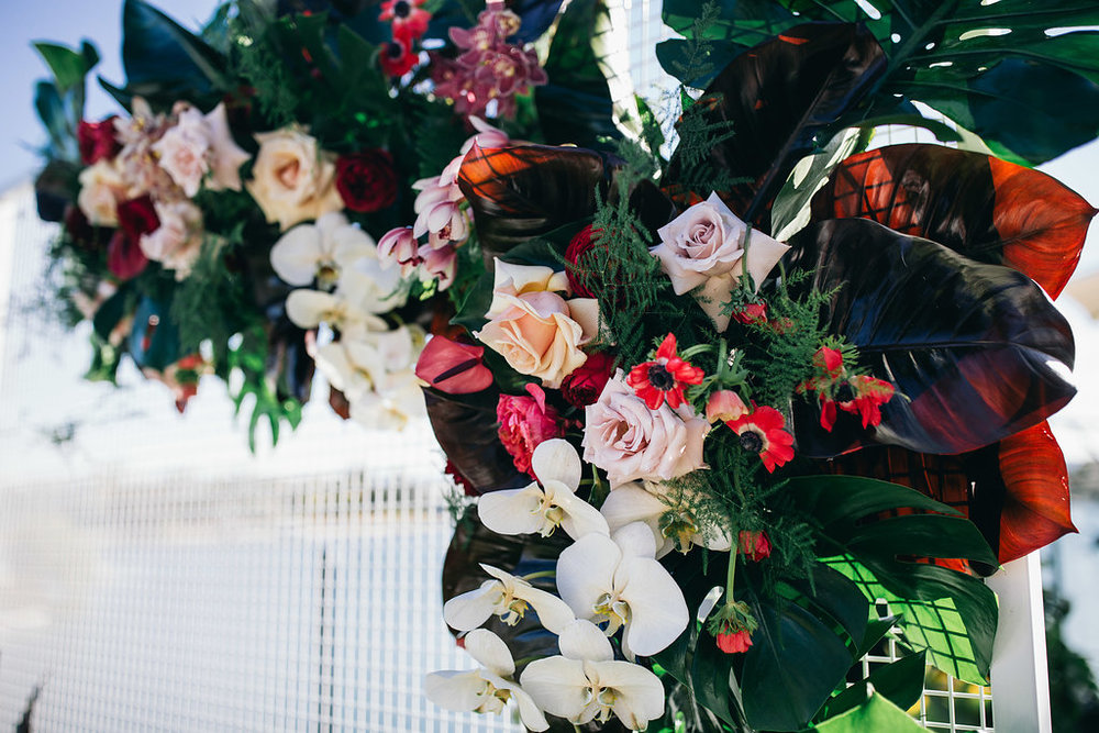 Real Wedding - Carmen and Nick | Gold Coast wedding venue | Hampton event hire | Floral installation