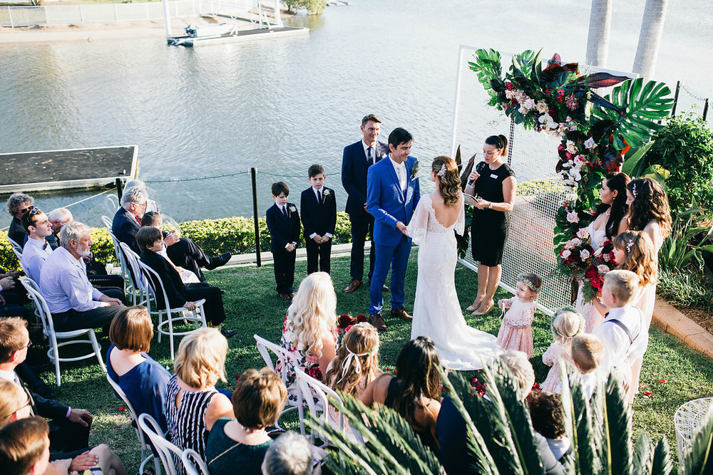 Real Wedding - Carmen and Nick | Gold Coast wedding venue | Hampton event hire | Ceremony