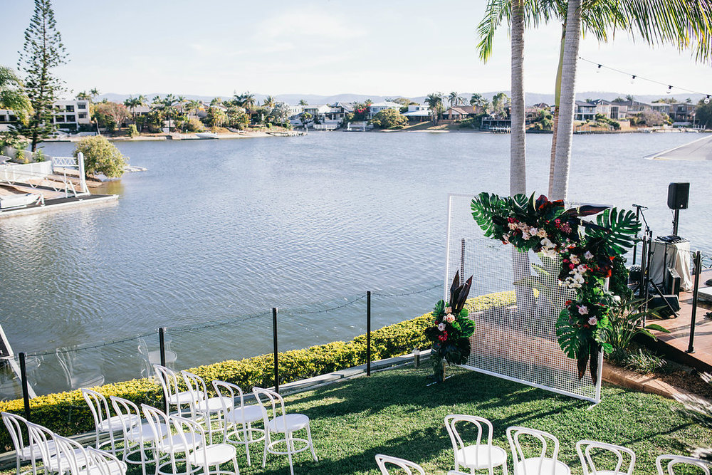 Carmen and Nick's real wedding on the Gold Coast, with Hampton Event Hire