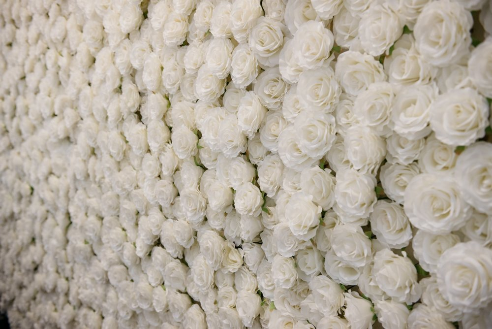 Real Wedding at Summergrove Estate Barn, Hampton Event Hire Blog, Flower Wall