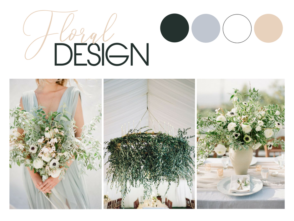Elegant Neutral Wedding Flower Inspiration | Image 1 and 3 via  Vasia Han  | Image 2 via  Jose Villa