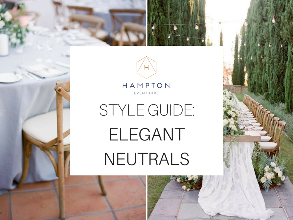 Elegant Neutral Wedding Styling Inspiration | Image 1 via  Diana McGregor  | Image 2 via  Jose Villa
