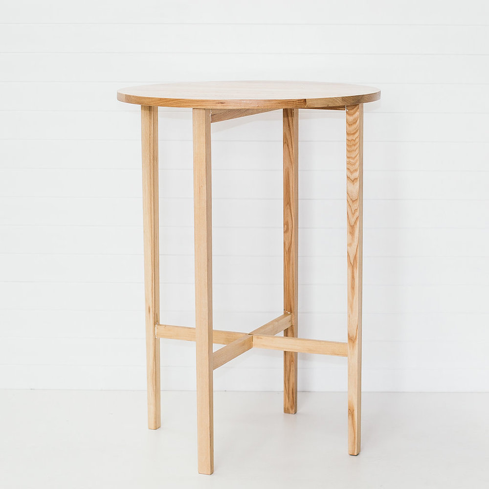 ROUND TIMBER DRY BAR TABLE