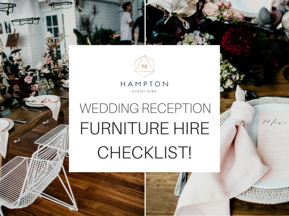 Wedding Furniture Hire Checklist - Image via Ivy Road Photography