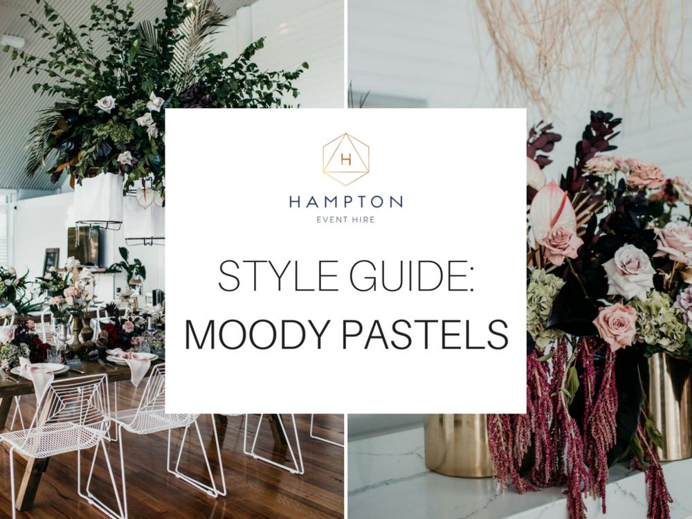 Moody Pastel Wedding Styling Inspiration | Hampton Event Hire, Gold Coast wedding furniture