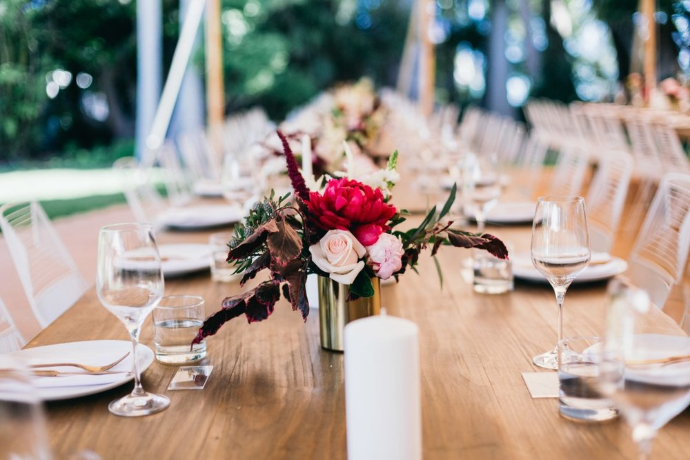 Real Wedding: Kathy and Glenn, Newrybar, Byron Bay Wedding | Hampton Event Hire, wedding and event hire | Image via Figtree Wedding Photography