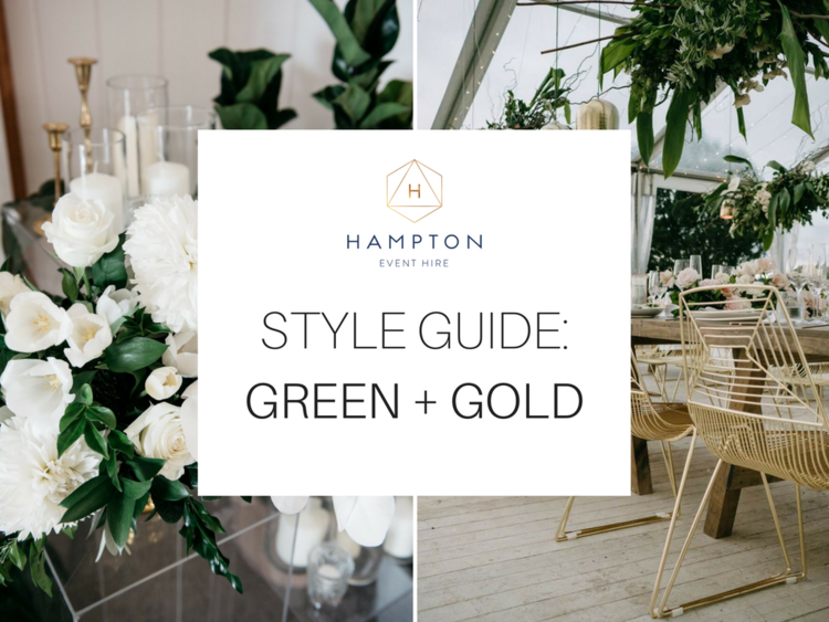 Style guide modern green and gold wedding inspiration hampton modern green and gold wedding inspiration hampton event hire blog wedding and event hire junglespirit Choice Image