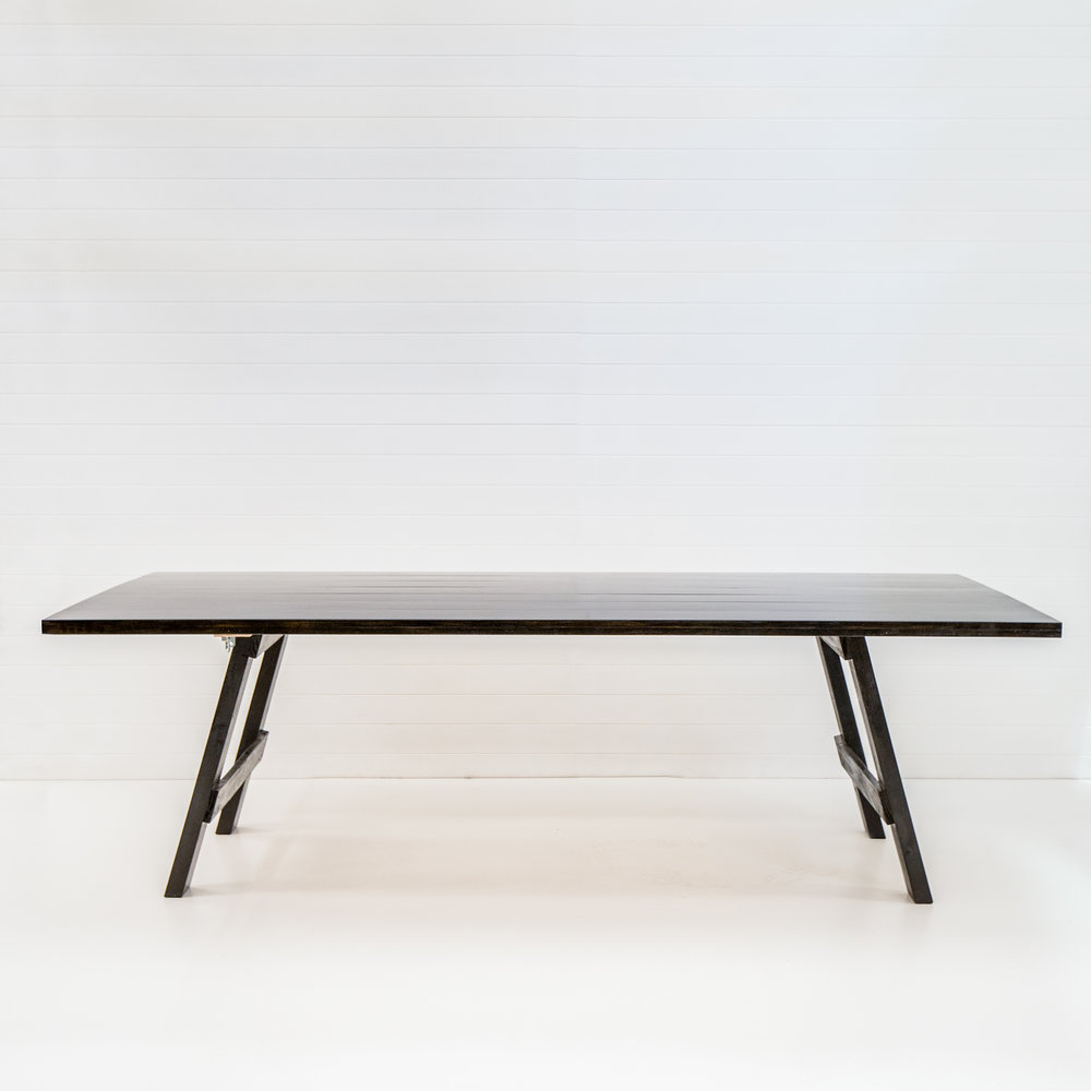 Black timber feasting table