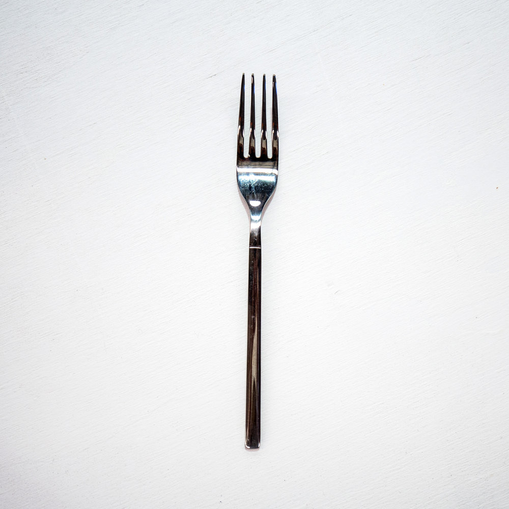 Silver entree fork