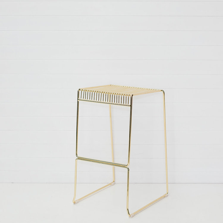 GOLD ICELANDIC STOOL