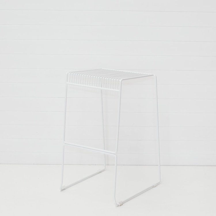 WHITE ICELANDIC STOOL