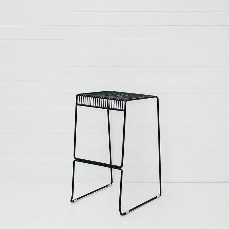 BLACK ICELANDIC STOOL