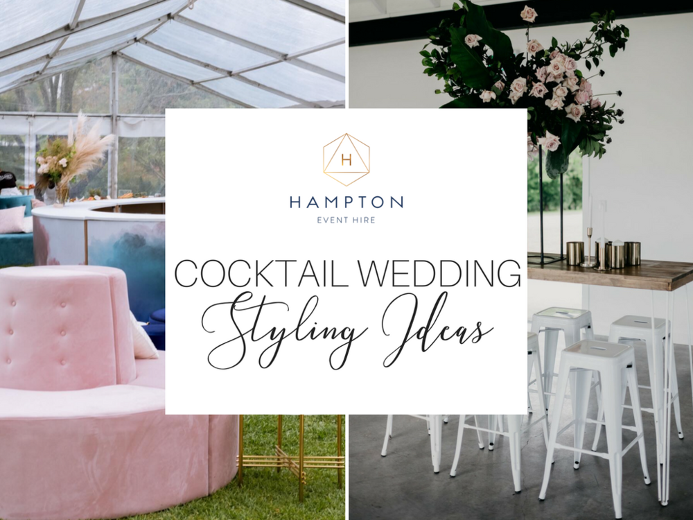 Cocktail Wedding Reception Styling Ideas Inspiration Hampton