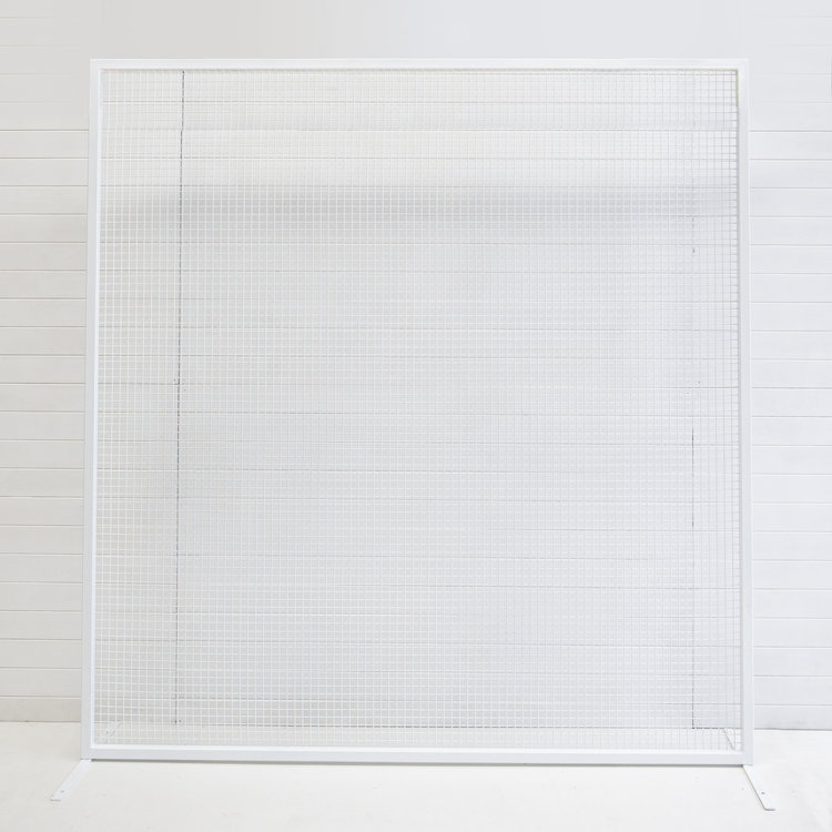 WHITE SOHO WIRE BACKDROP
