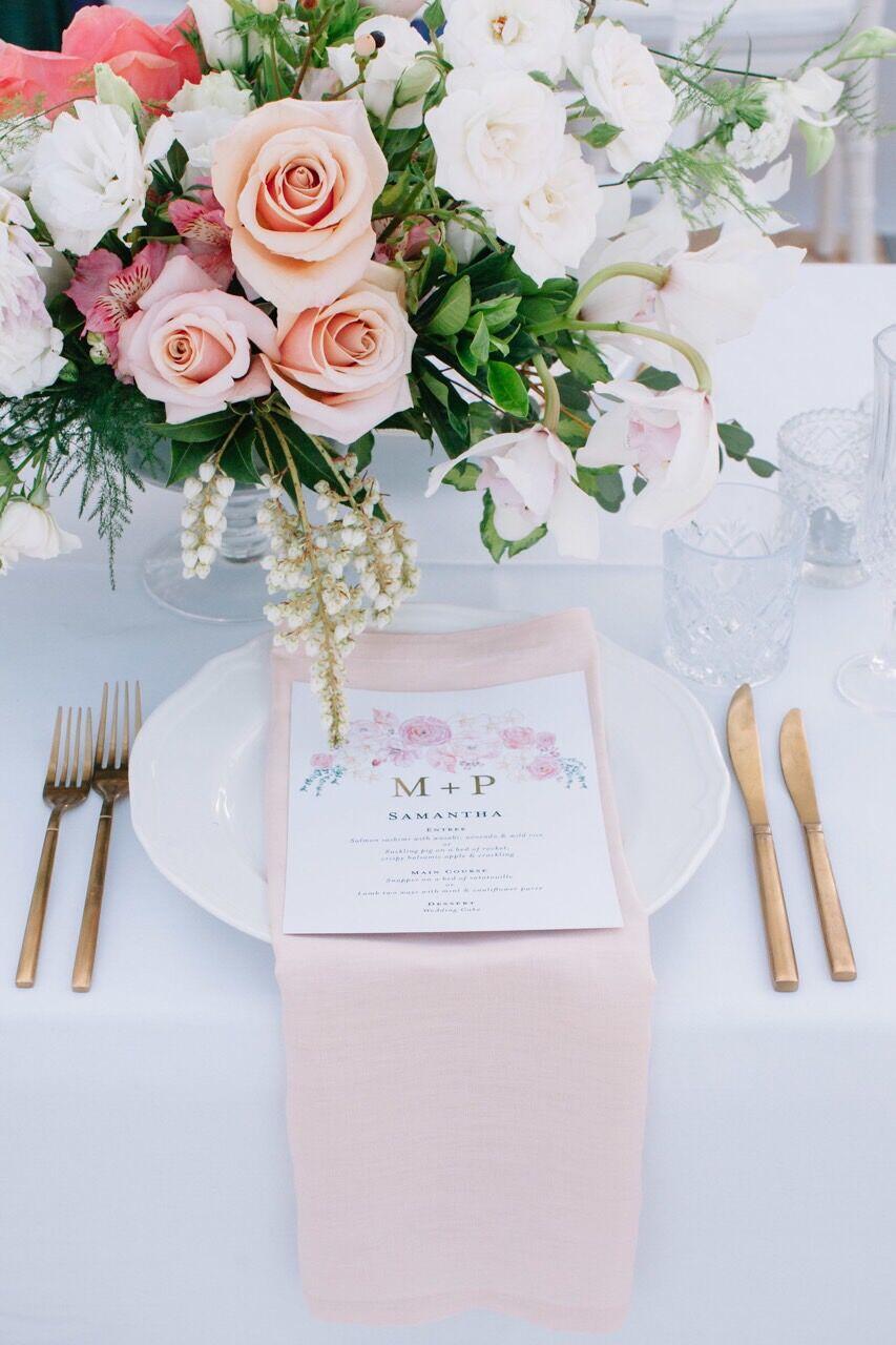 Blush linen napkins tableware hire Hampton Event Hire6.jpeg