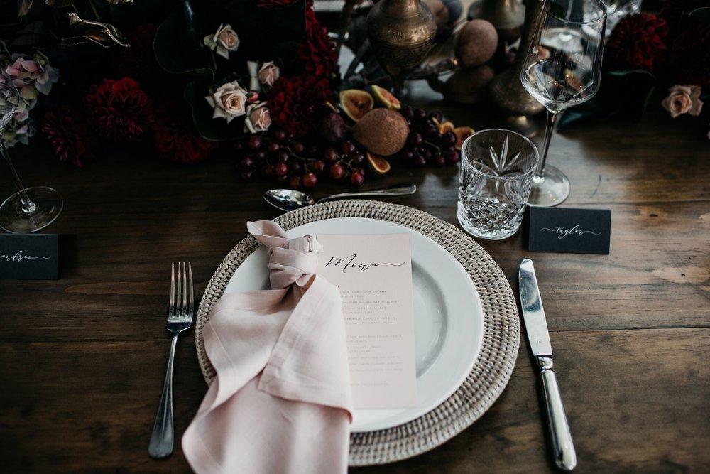 Blush linen napkins tableware hire Hampton Event Hire2.jpeg