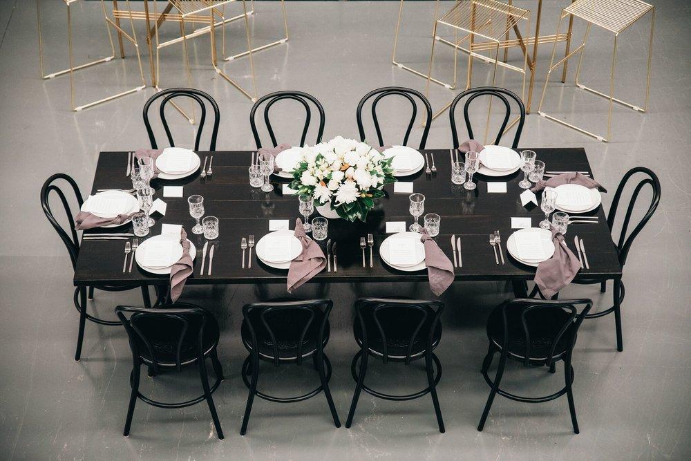 Black dining table hire Hampton Event Hire2.jpeg