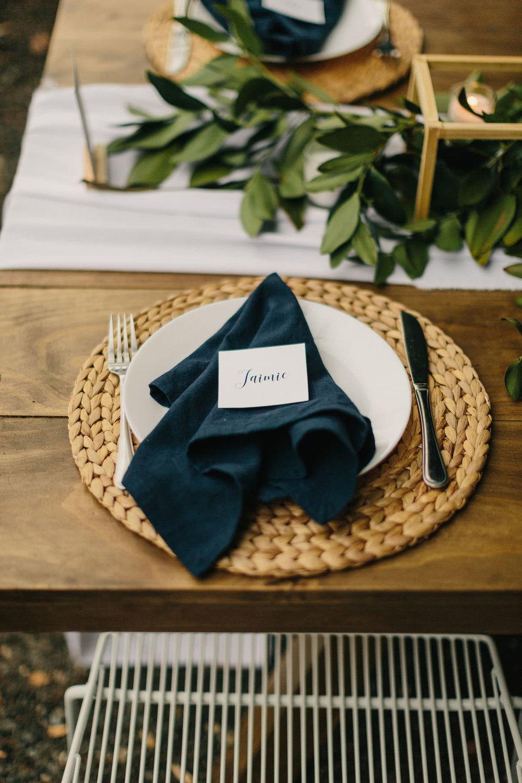 Navy linen napkins hire Hampton Event Hire3.jpg