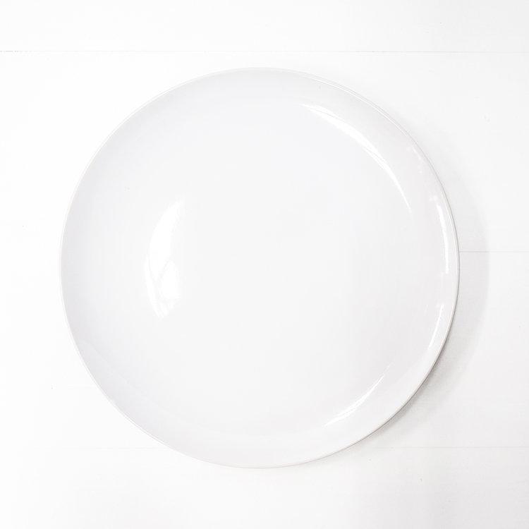 WHITE DINNER PLATE