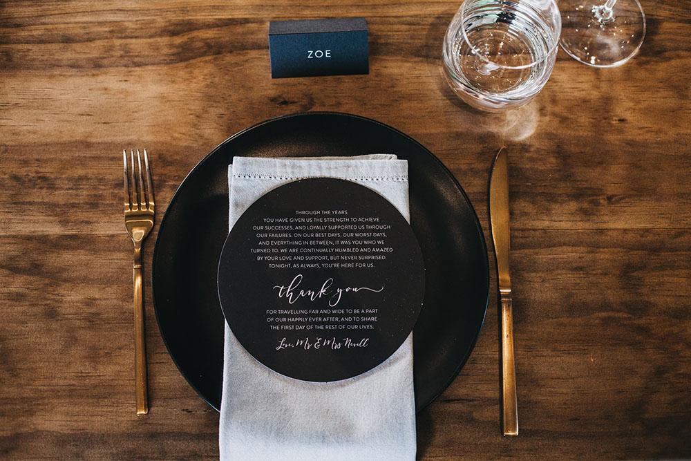 Black dinner plate hire Hampton event hire4.jpg
