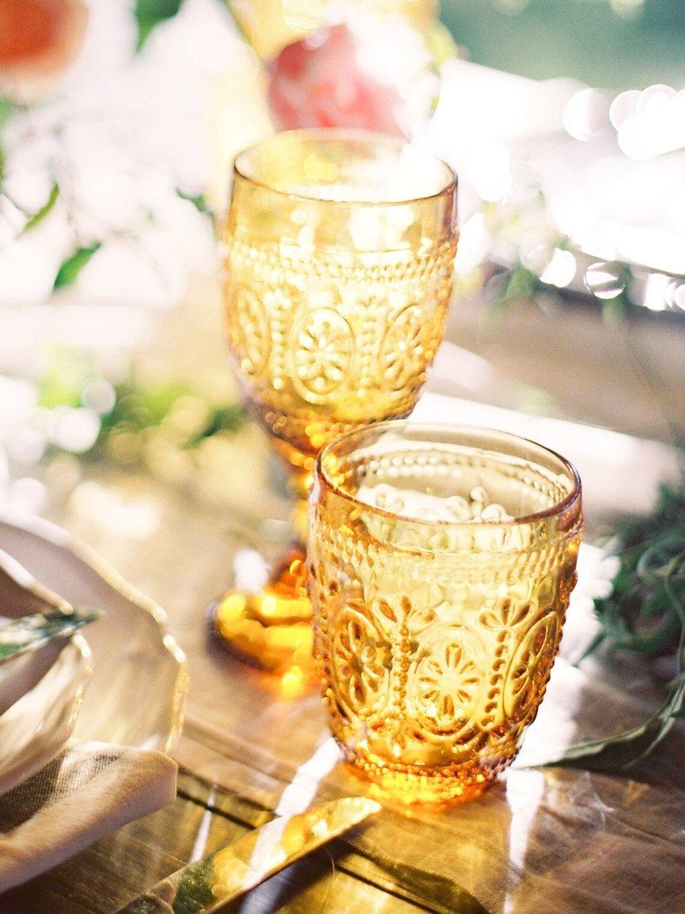 Amber glassware hire Hampton Event Hire3.jpeg