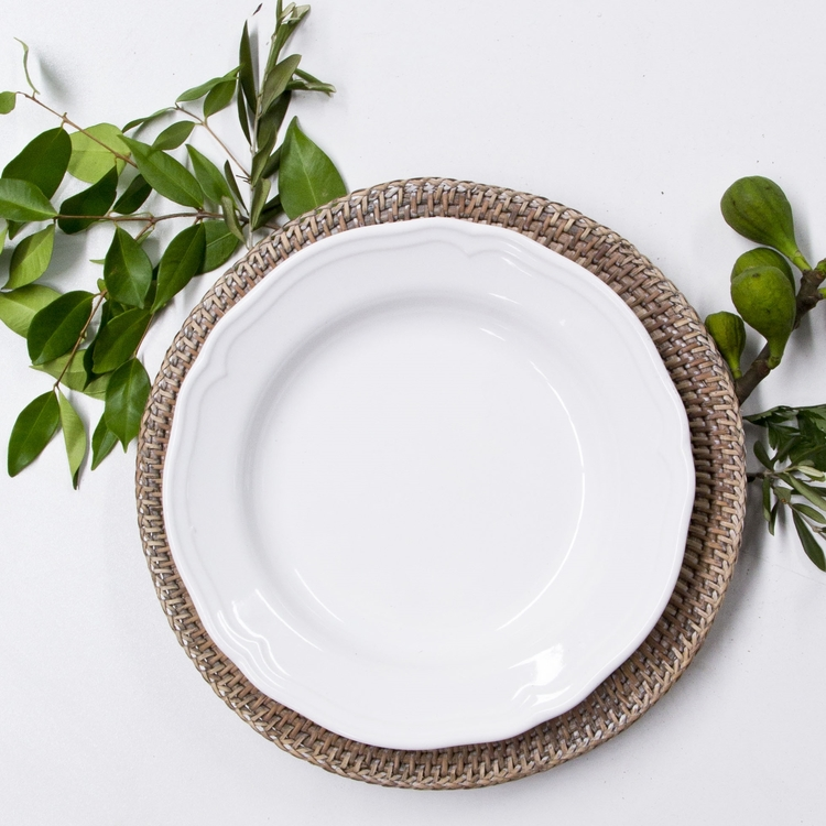 RATTAN CHARGER PLATES