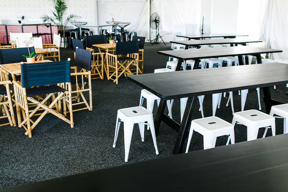 Corporate Event Styling - Doomben Racecourse, Brisbane Racing Club | Event Furniture Hire by Hampton Event Hire | Photo by Kate Robinson Photography