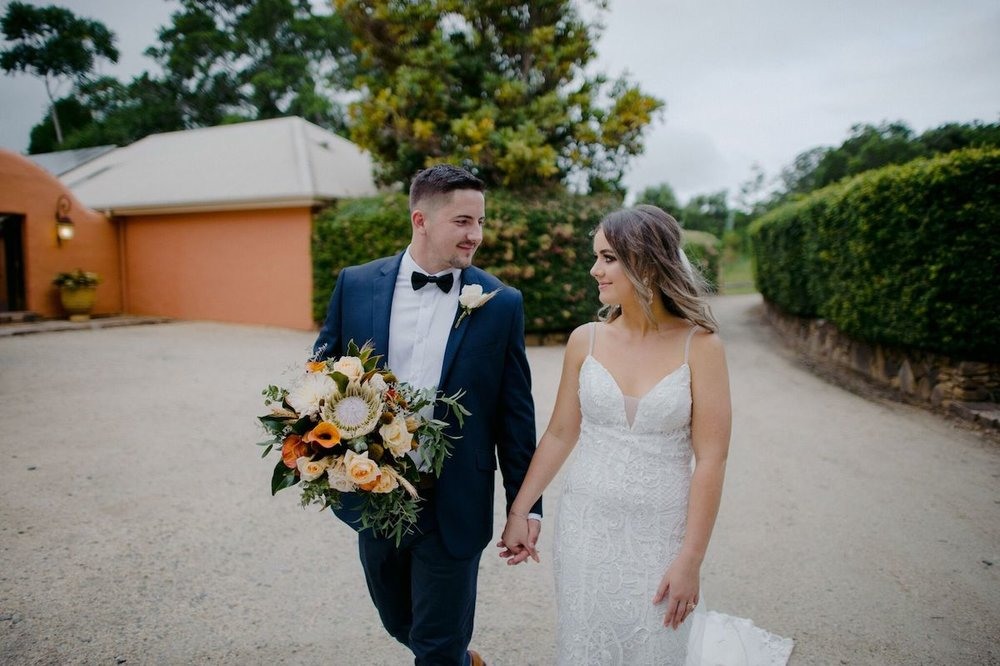 Real Wedding: Katelyn + Justin, Orara Valley Estate Coffs Harbour Wedding Venue | Hampton Event Hire, wedding and event furniture hire | Photo by The Moores