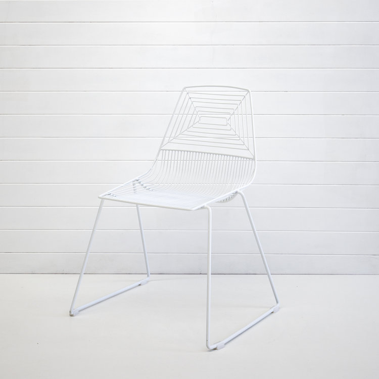 WHITE WIRE SOHO CHAIR