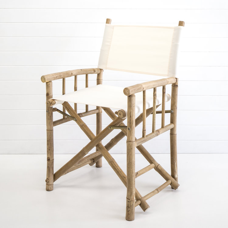 WHITE BAMBOO DIRECTOR CHAIR