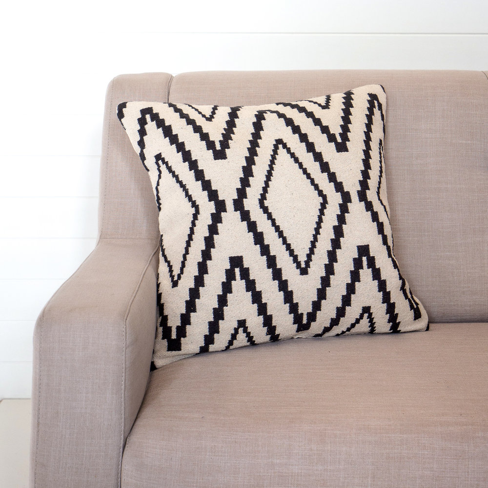 Black and White Zigzag Cushion