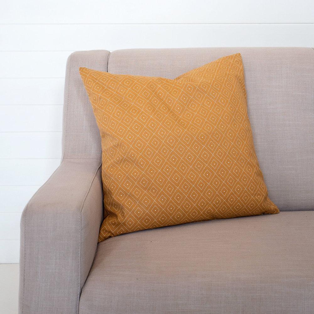 Mustard Quatrefoil Cushion