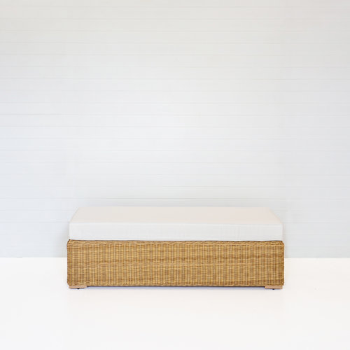 DUNE BENCH OTTOMAN WITH WHTIE CUSHION