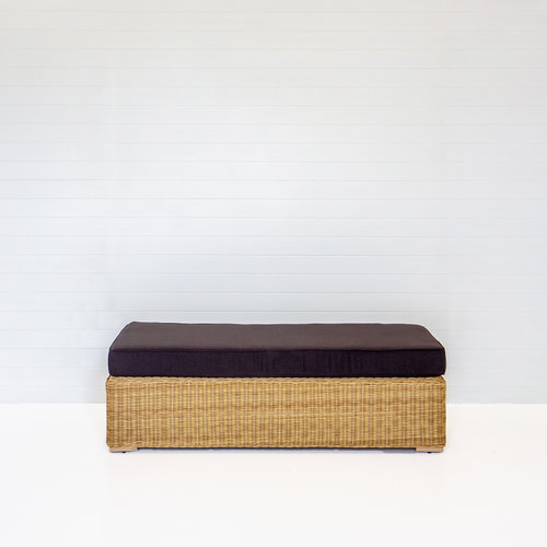 DUNE BENCH OTTOMAN WITH BLACK CUSHION