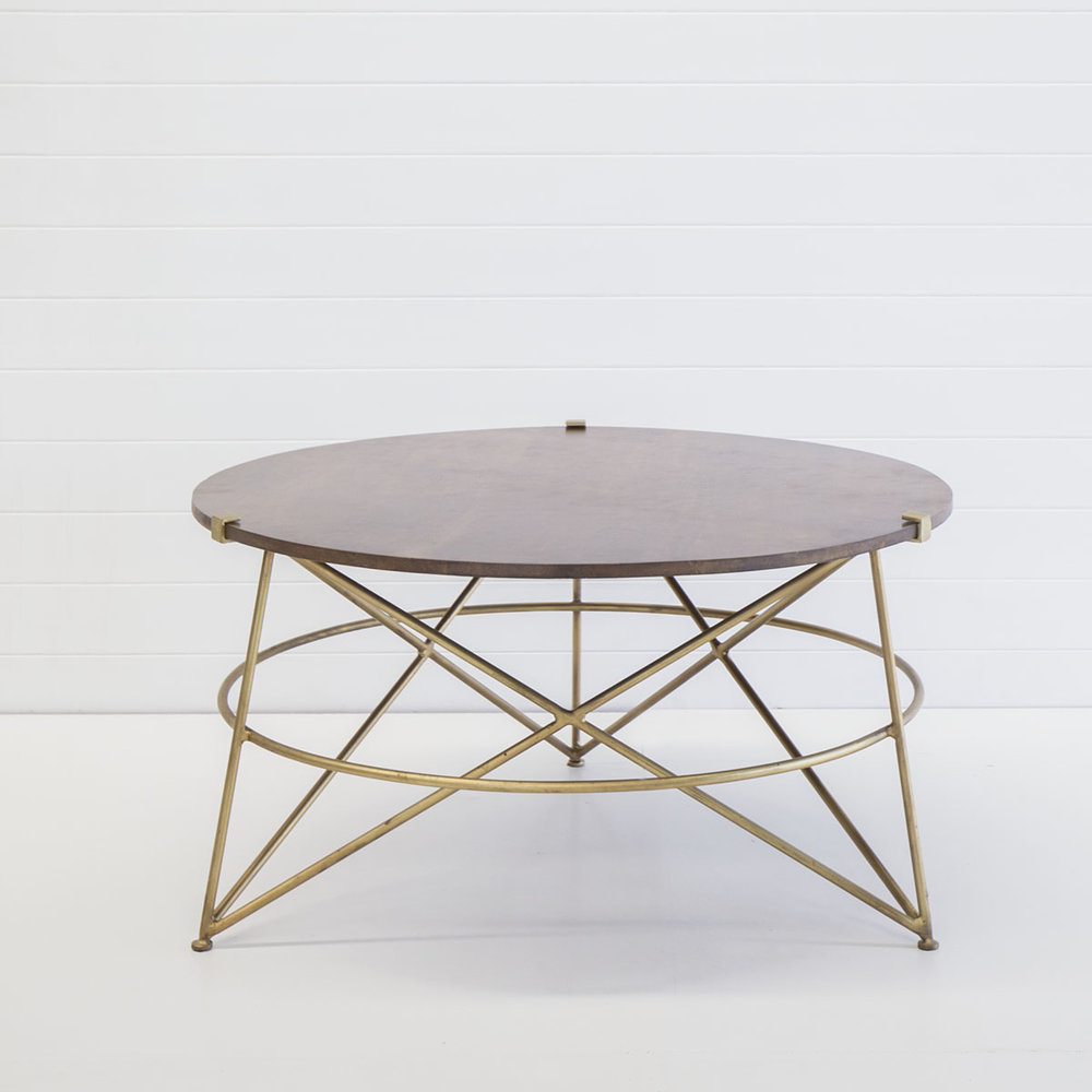 Gold wire coffee table