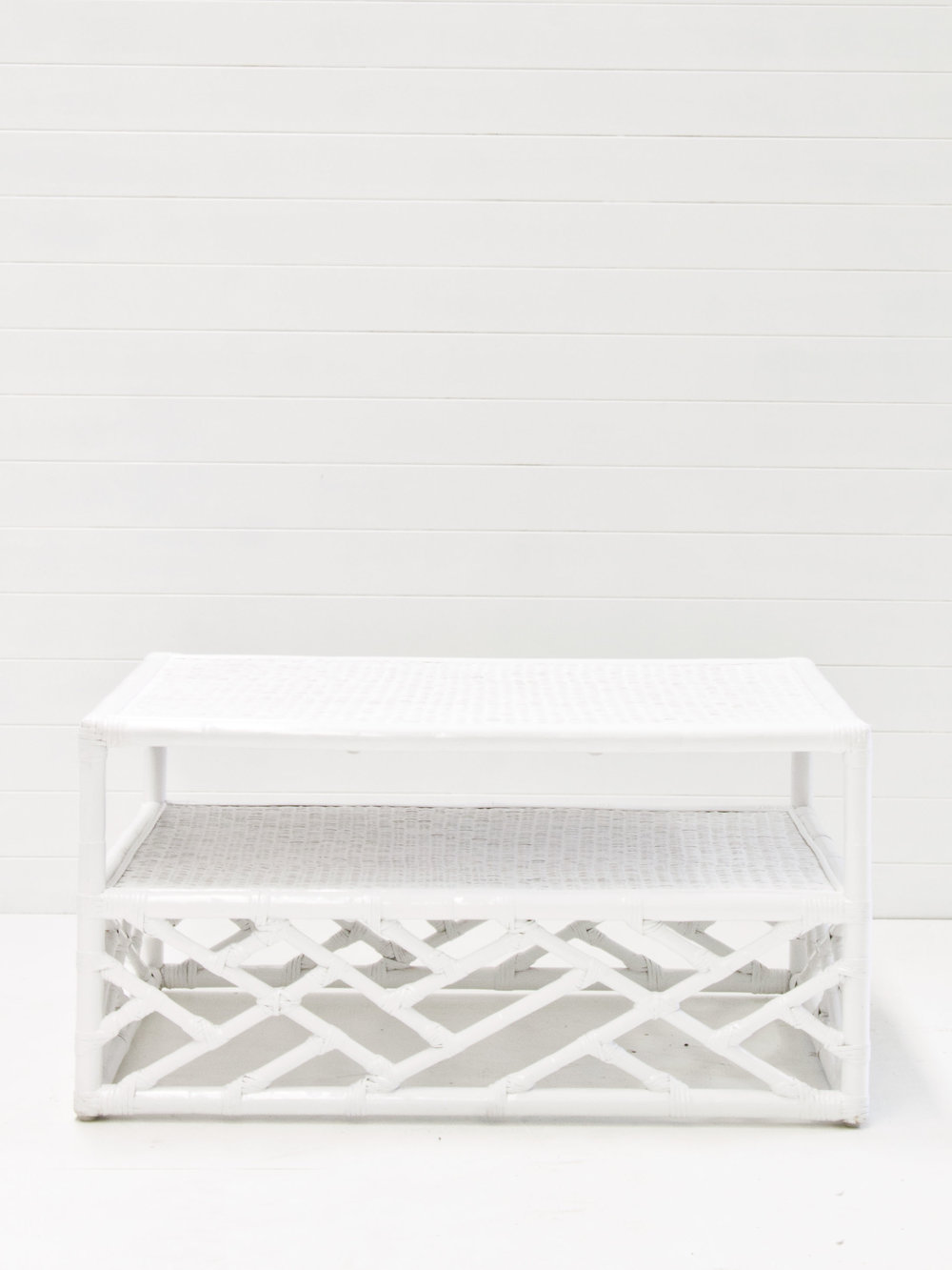 White summer coffee table