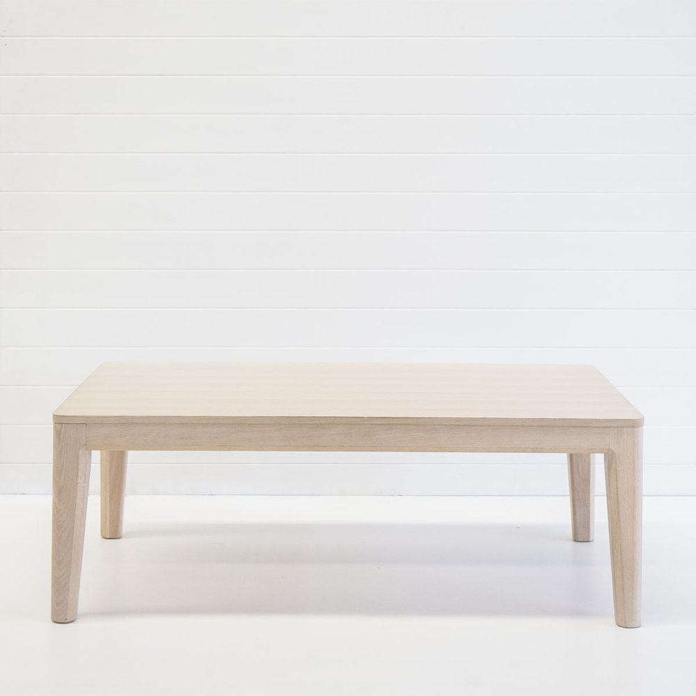 Whitewash oak coffee table