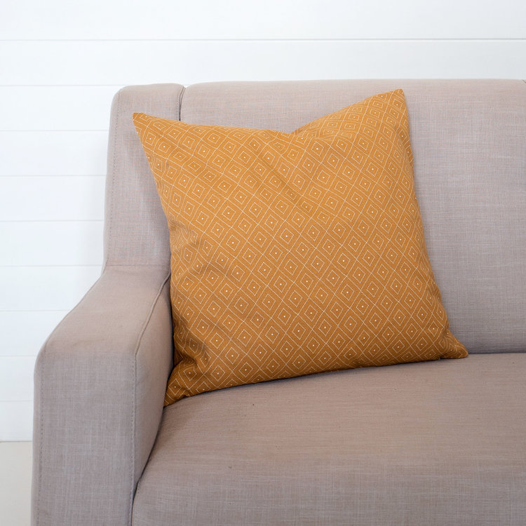 MUSTARD QUATREFOIL CUSHION