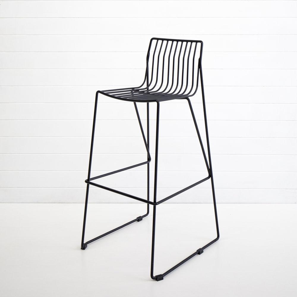Black wire stool copy