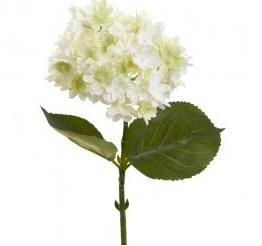 White Hydrandra Stem Fake Flower