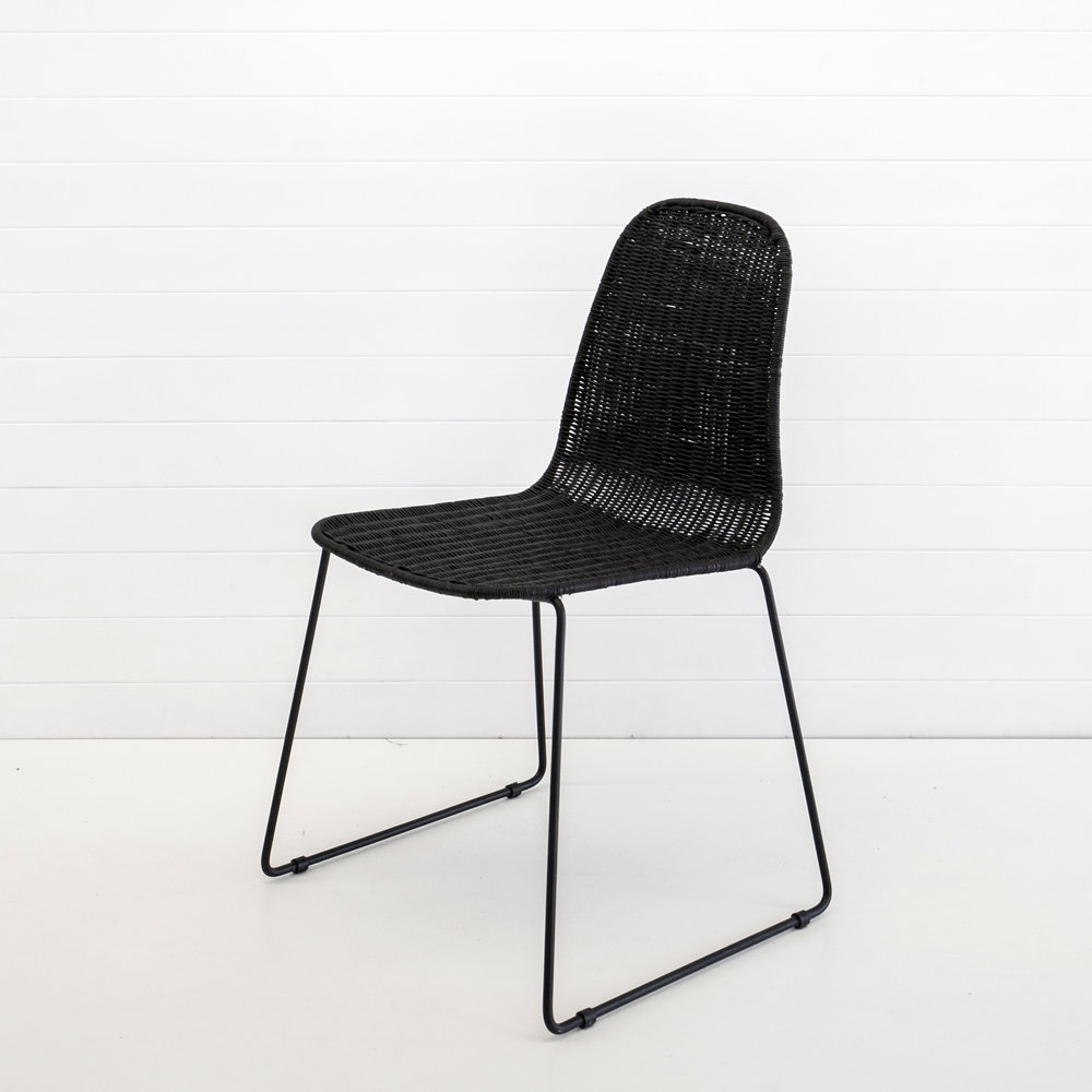 INDIE BLACK DINING CHAIR