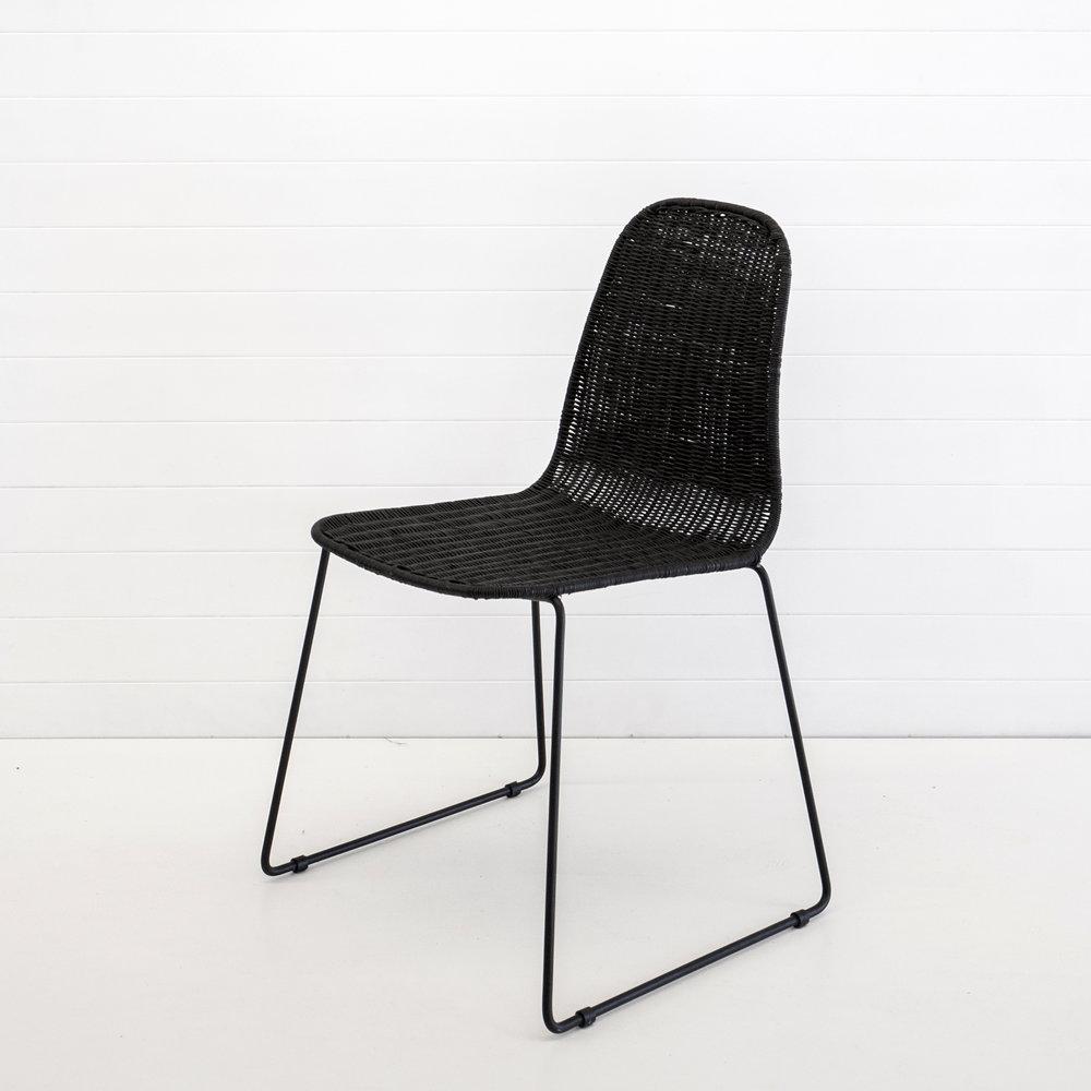 Indie black dining chair