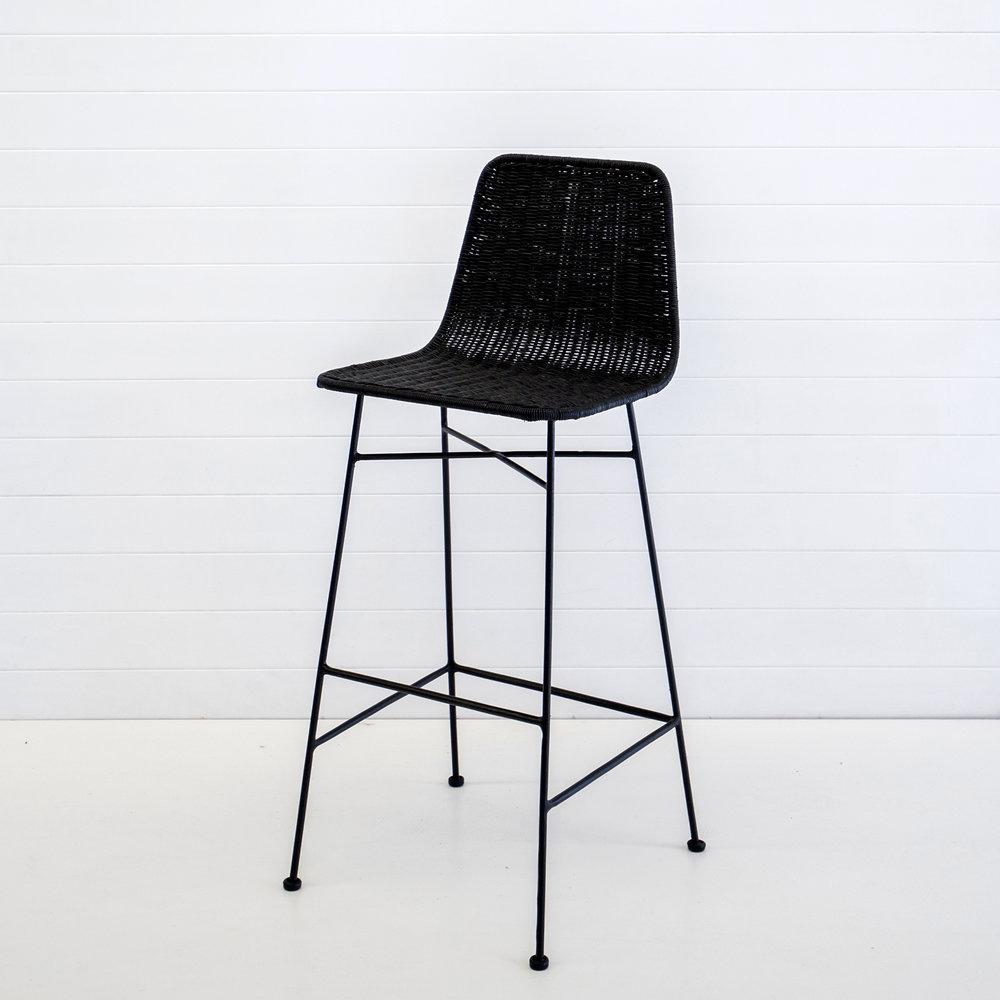 Indie black bar stool