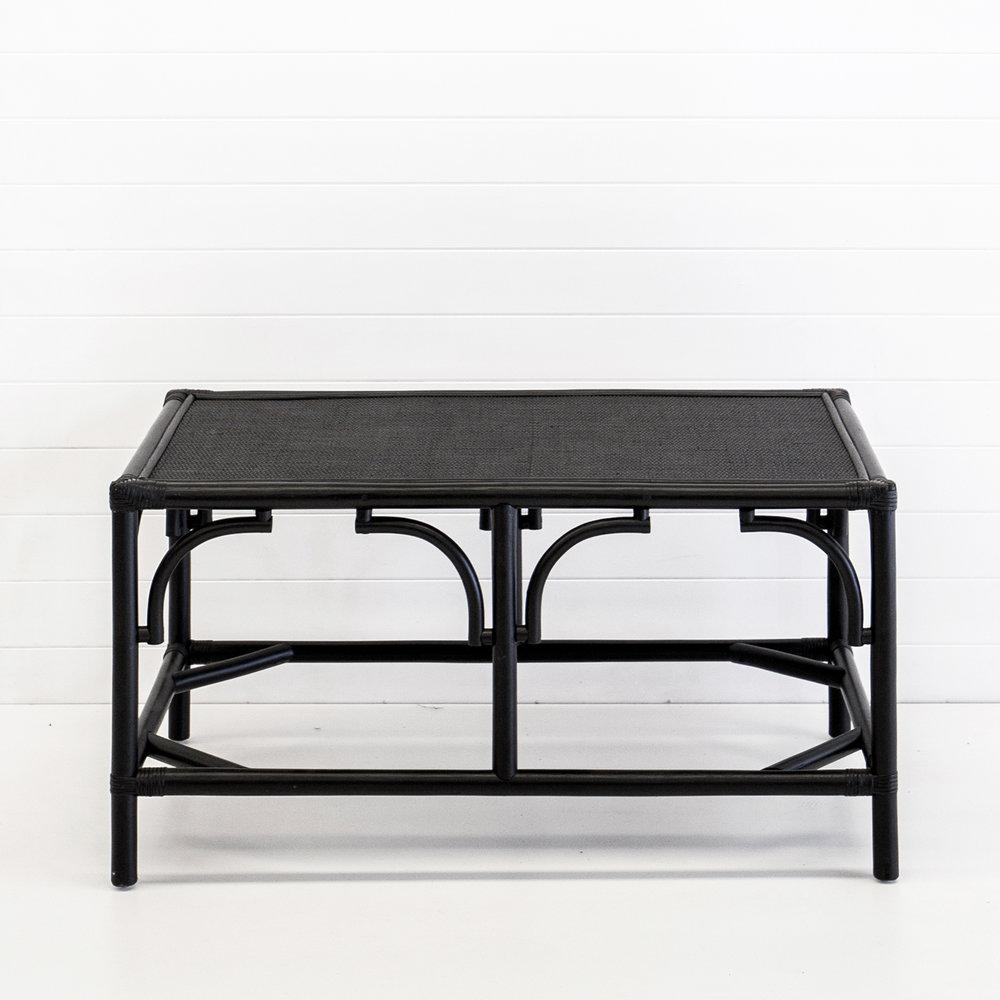 Hamptons black coffee table