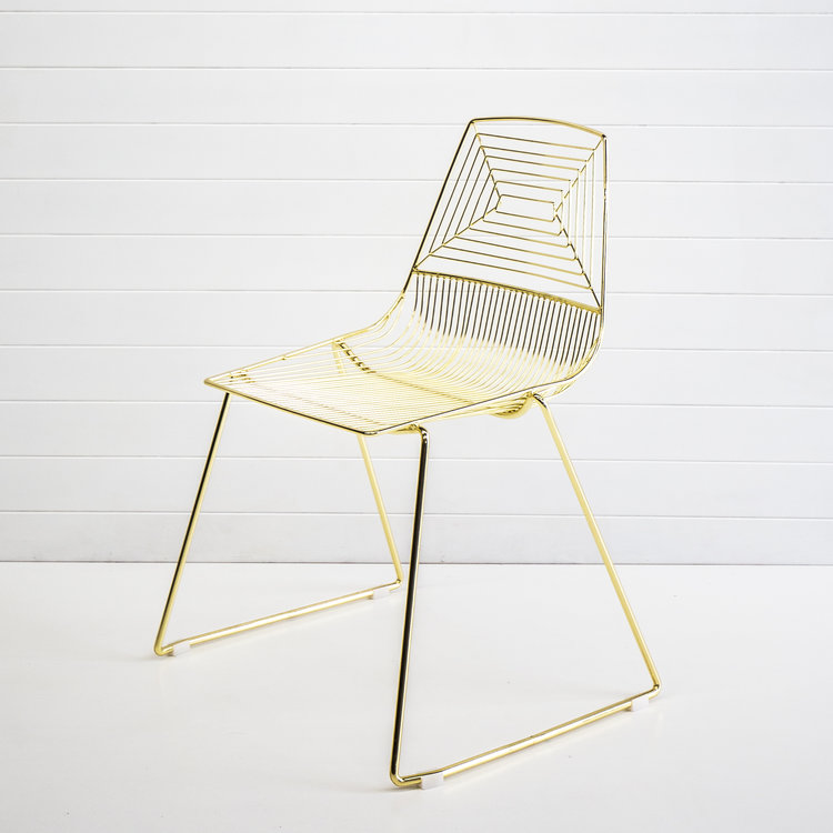 GOLD SOHO DINING CHAIR