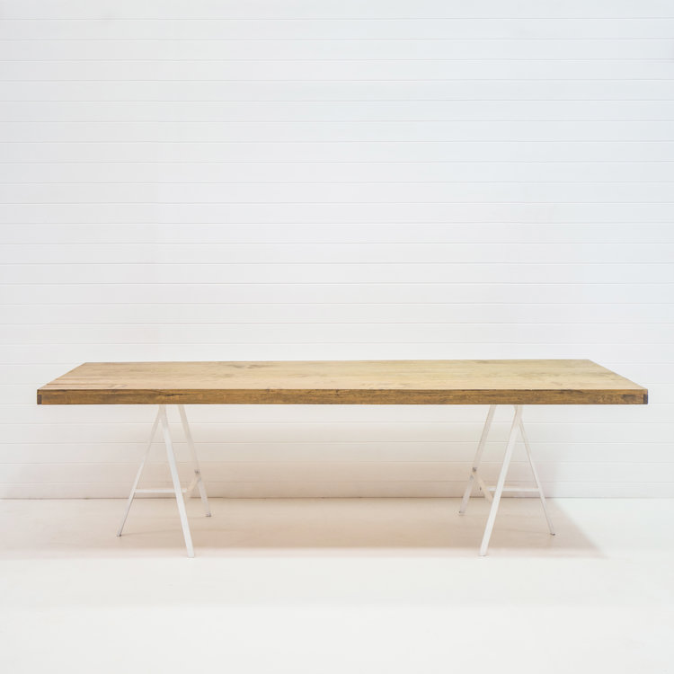 LONG WOODEN DINING TABLE
