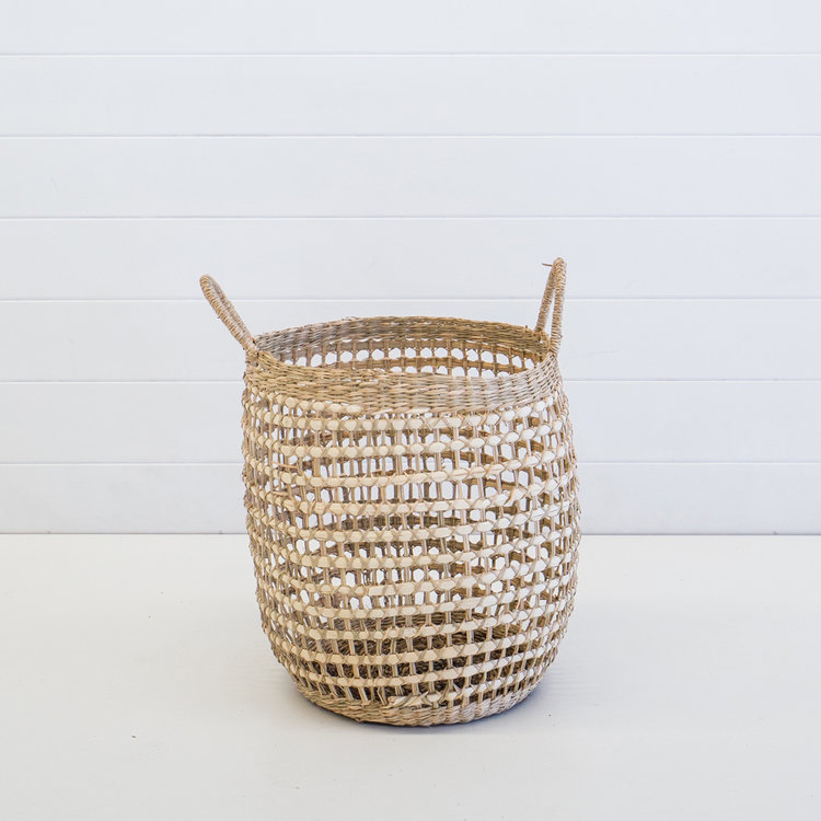 LARGE WOVEN INDIE BASKET